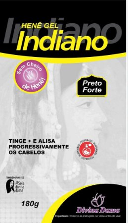 Indiano Henê Gel 180g Preto Forte Pouche