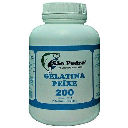 GELATINA DE PEIXE SÃO PEDRO 200 CÁPSULAS (500mg)