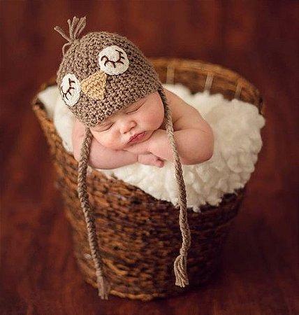 Touca Croche Modelo Pequeno Pardal
