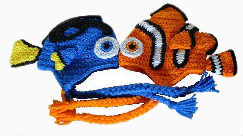 Touca Nemo Ou Touca Procurando Dory Em Crochê