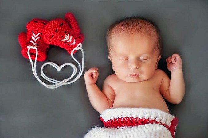 Conjunto Newborn Boxeador em Crochê
