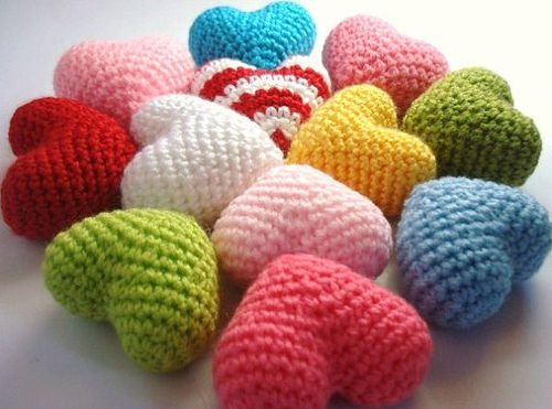 Coração Amigurumi Em Croche - 3d Mini Coraçoes Decora Newborn