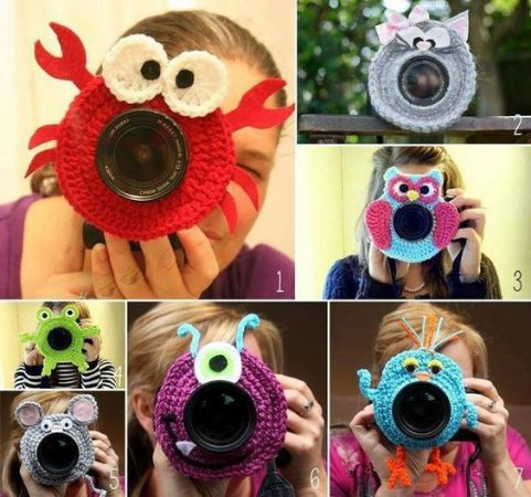Lens Props em Croche = Modelos Diversos
