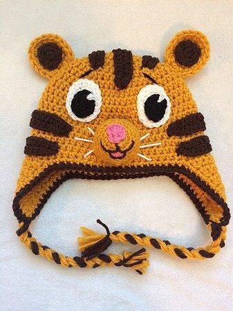Touca Croche Modelo Pequeno Tigre