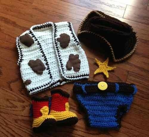 Newborn Woody - Toy Stoty - em Crochê - kit completo