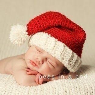 Touca Crochê Vermelha e Branca