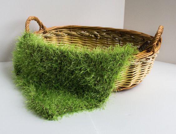 Manta Newborn de Croche - Pelagem de altura média - Graminha Fofa
