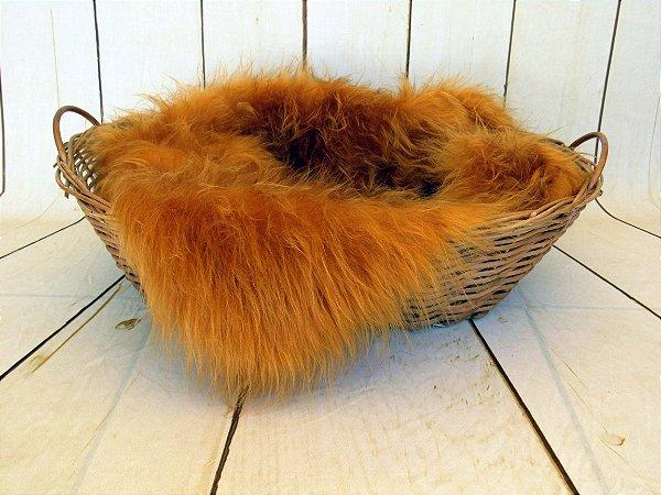 Manta para Newborn Pêlo Longo - Cor Caramelo Dourado - Vários tamanhos