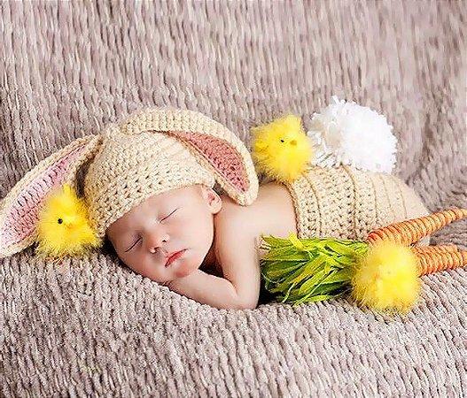 Conjunto Newborn Coelhinho Bege -  Prop Coelho bebê