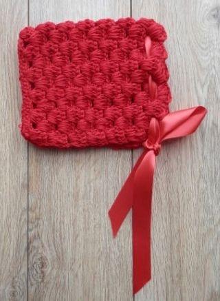 Touca Chapeuzinho Vermelho Em Crochê Newborn