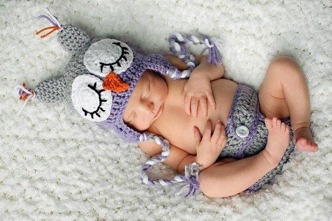 Conjunto Newborn Coruja - Menino