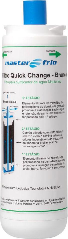 Filtro Refil  Purificador de Água Masterfrio Rótulo Branco ( Original )