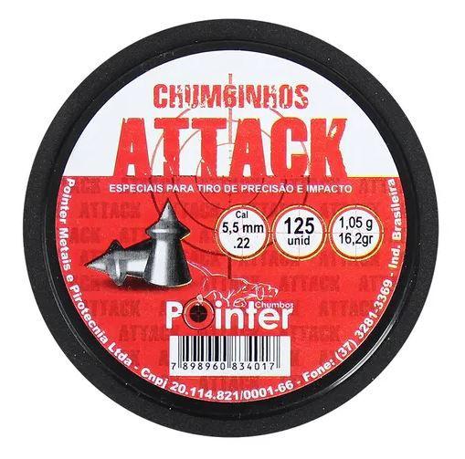 Chumbinho Pointer Attack 5.5mm 125un