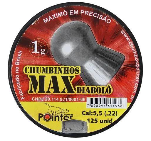 Chumbinho Pointer Max Diabolô 5.5mm 125un
