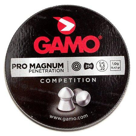 Chumbinho GAMO Pro Magnum 5.5mm - c/ 250 un