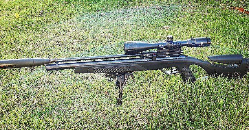 Carabina Pressão PCP Coyote Black Whisper Polimero Cal. 5.5mm - GAMO - SEMINOVA