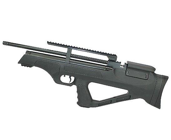 Carabina Pressão PCP Bullpup Flashpup 12 tiros Polimero Cal. 5.5mm - Hatsan