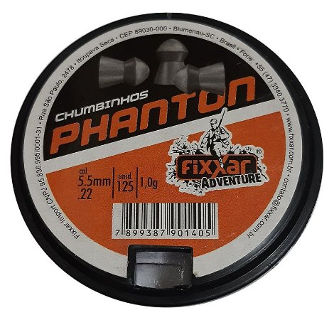 Chumbinho Phanton - Cal 5.5 mm - c/125 un - Fixxar