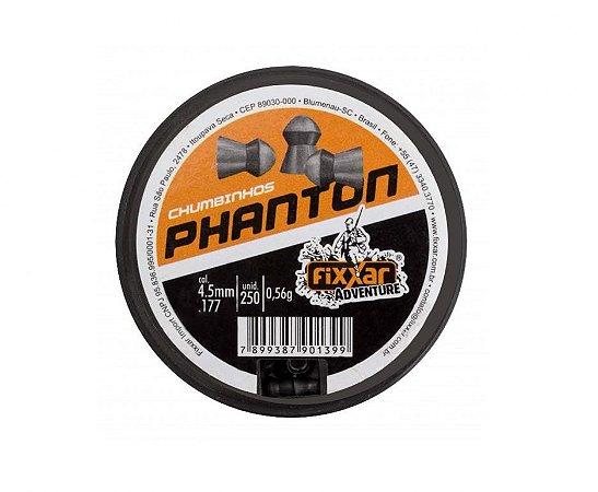 Chumbinho Phanton - Cal 4.5 mm - c/250 un - Fixxar