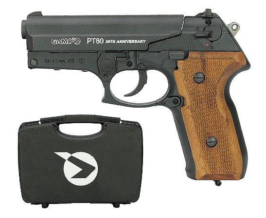 Pistola de Pressão CO2 PT-80 20Th Anniversary Cal. 4.5mm - GAMO
