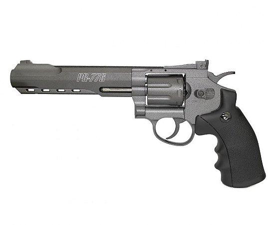 """Revólver de Pressão CO2 Gamo PR-776 - 6""""- Full Metal 8 tiros - Cal. 4.5mm"""