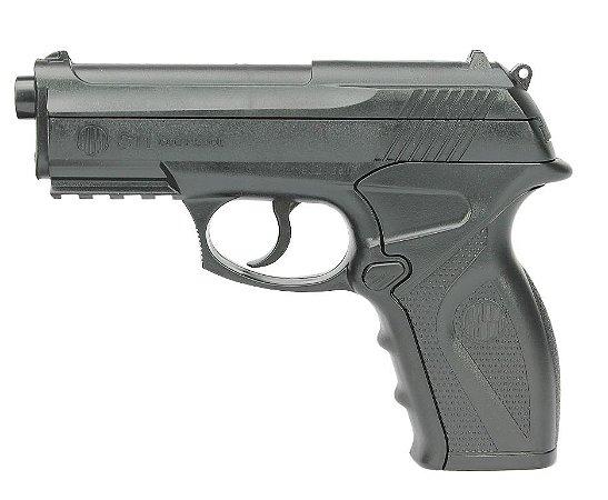Pistola Pressão CO2 C11 - Cal 6mm - Esferas de Aço - Wingun