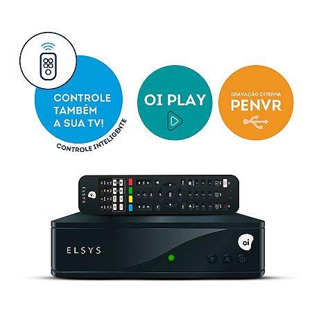RECEPTOR DIGITAL OI TV HD COM CONTROLE INTELIGENTE ETRS44
