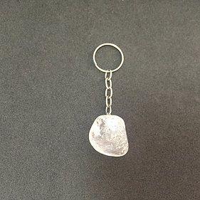 Chaveiro Pedra natural Quartzo Transparente