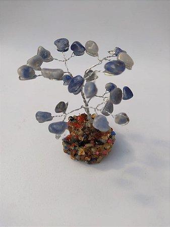 Árvore da Felicidade Quartzo Azul