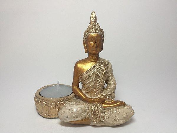 Castiçal Buda Sidarta com vela