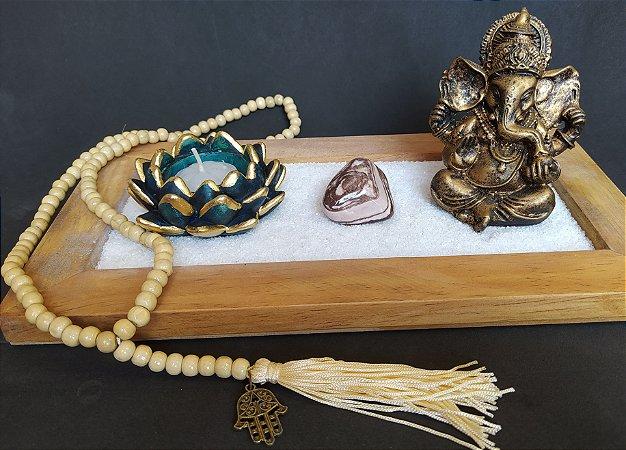 Kit Jardim Zen Madeira Rústica
