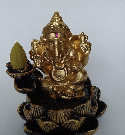 Incensário Cascata Ganesha (Cone e Vareta)