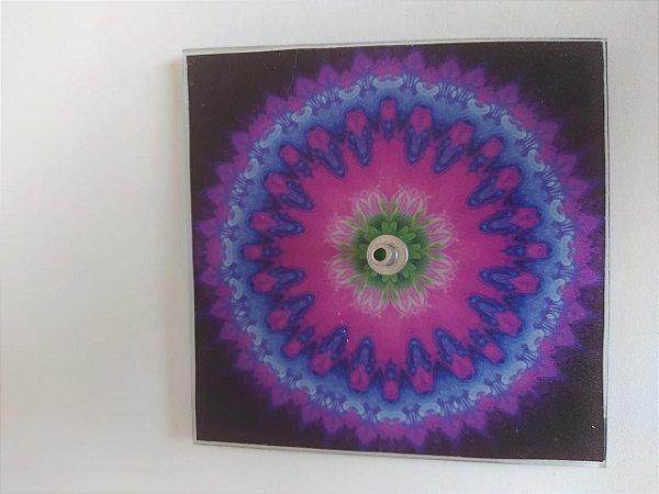 Incensário Vidro Mandala Chama Violeta