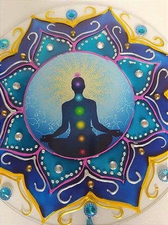 Mandala Vidro Chakras