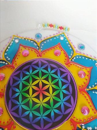 Mandala Vidro Flor da Vida