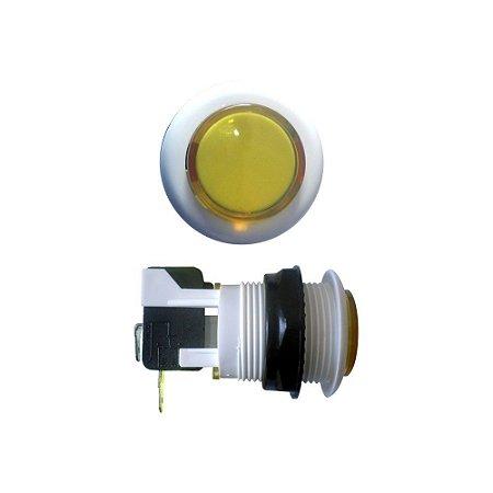 Chave Botão Acrílico Amarelo com Microswitch