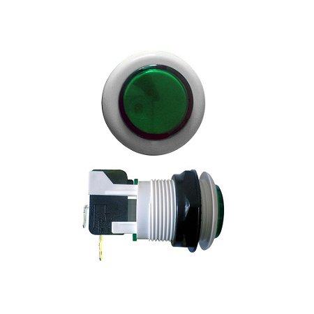 Chave Botão Acrílico Verde com Microswitch