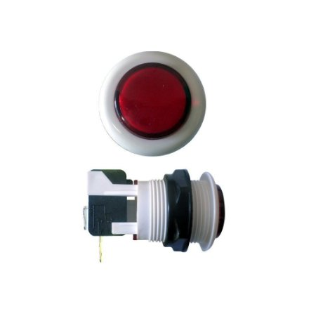 Chave Botão Acrílico Vermelho com Microswitch