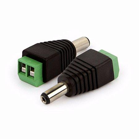 Conector P4 2.1 mm Macho com Borne