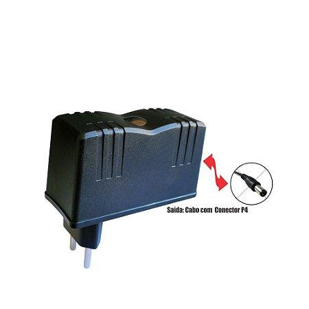 Fonte 1203 12V 3A P4 2,1mm Wall Plug Vertical