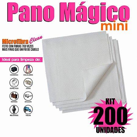 Kit 200 Unidades Panos Mágicos Mini 9,8X9,8 cm