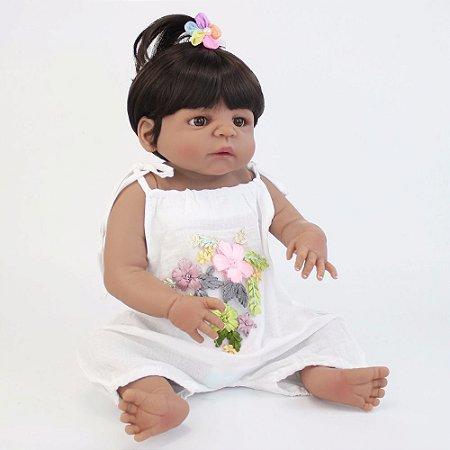Boneca Bebe Reborn Vivi Toda em Silicone