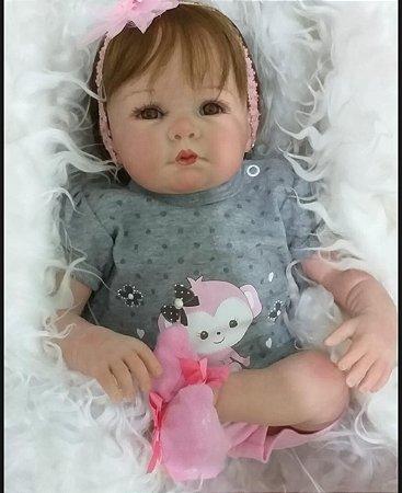 Boneca Bebe Reborn Super Realista 100% Silicone Júlya