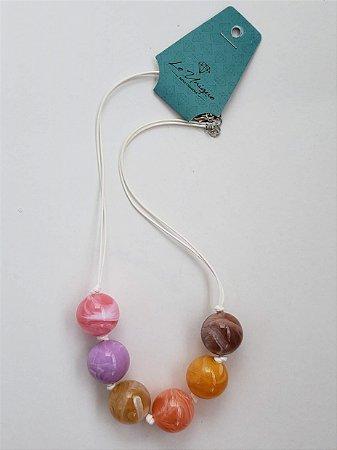 496a8d971d469 Colar de esferas coloridas - A loja mais Woo Hoo do Brasil