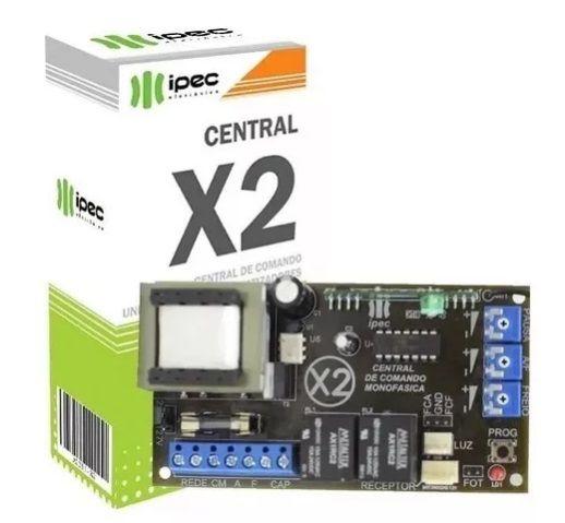 Placa Central Motor Portão Universal 433 Mhz C/ Freio Ipec