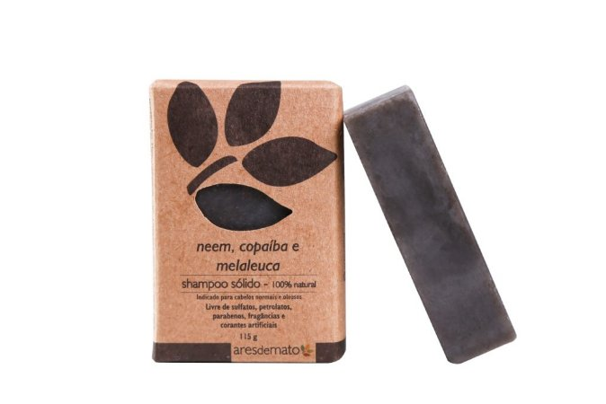 Shampoo Sólido, Neem, Copaíba e Melaleuca - Ares de Mato