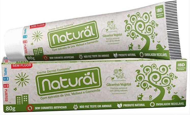 Creme Dental com Extratos de Uva, Melissa e Camomila - Orgânico Natural