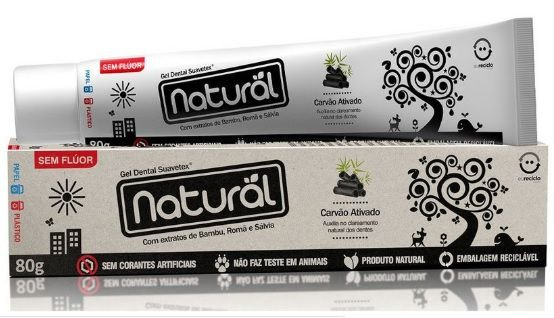 Creme Dental Natural com Carvão Ativado - Orgânico Natural