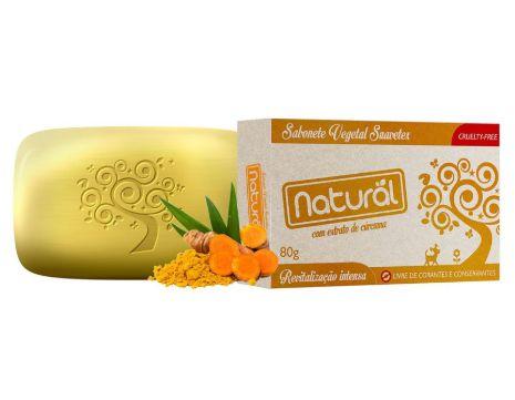 Sabonete Natural com Extrato de Cúrcuma da Orgânico Natural