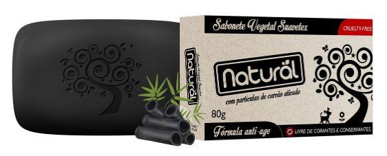 Sabonete Natural com Carvão Ativado - Orgânico Natural